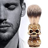 Shaving Brush, Grooming Tool Makeup Skull Head Barber Salon Beard Brushes For Men