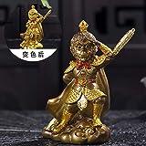 GBCJ Wukong Ornamente Tee Boutique AFFE König Kung Fu Tee-Set, Tee-Tablett-Zubehör, Tee Insekt Tee Spiel Farbwechsel kann beibehalten Werden, kämpfen Holy Buddha Golden Hoop Stick [verfärbbares Ge