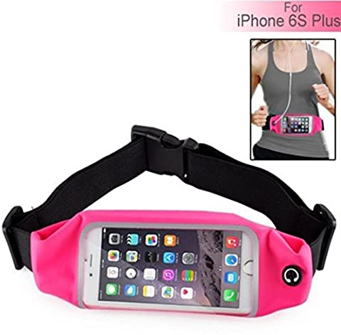 Waterproof Waist Belt Band Bag Case For iPhone 6S Plus Accessory Combo Pink
