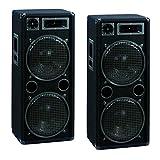 2000 Watt PAAR 3-Wege Boxen Lautsprecher 30cm 12' OMNITRONIC DX-2222
