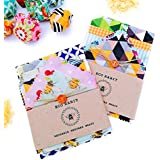 Set of 6 Family Bundle 100% Natural Beeswax Food Wraps, Assorted sizes and colours