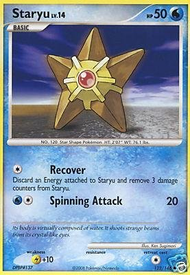 Pokemon Diamond & Pearl Legends Awakened Single Card Staryu #122 Common [Toy]