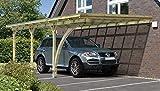 Anlehncarport Carport EIFEL XIII 400x600cm mit Leimholzbogen und Dacheindeckung