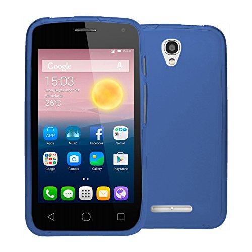 TBOC® Blau Gel TPU Hülle für Alcatel One Touch Pixi First - Pixi 1st (4.0 Zoll) Ultradünn Flexibel Silikonhülle