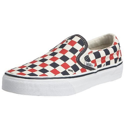 Vans U CLASSIC SLIP-ON, Sneaker Unisex Adulto Blu (Navy/Red/White Logo Check)