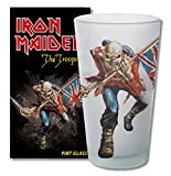 for-collectors-only Iron Maiden The Trooper Bière en Verre Verre Long Drink Verre XL Gobelet Verre à Bière