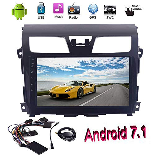 EINCAR Version Quad-Core-Android 7.1 Doppel-DIN-Car-Spieler Nissan Altima (2014-2016) GPS Navigation mit 10,1-Zoll-Touchscreen Bluetooth AM/FM-RDS-Radio-USB-Spiegel Link-OBD2 Freien Canbus (Altima Radio Nissan System)