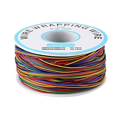 Câble Souple Et Isolant,Rouleau De Câble Electrique - 280M 30Awg 8 Fils de Zunate