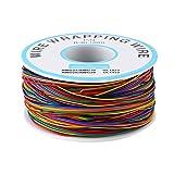 1 Rollo de Colorido P/N B-30-1000 280 M Cable de Prueba de Cobre de Embalaje de Aislamiento de 8 Colores para Ordenador portátil Prueba Electrónica