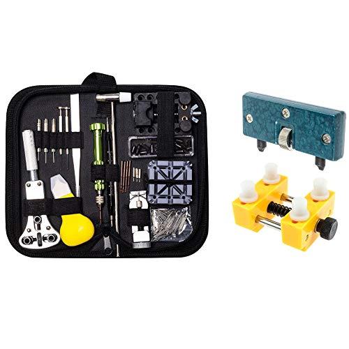 Queta Uhrenwerkzeug Set Reparatur Set für Uhrenwerkzeug Uhrmacherwerkzeug Uhr Werkzeug Watch Tools mit Uhren Decken Öffner Justierbar Werkzeug