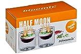 bloomix 2er Set Cateringschalen Half Moon Big doppelwandige Thermogläser je 220 ml Geschenkverpackung