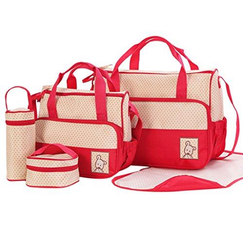 FREESOO Set 5 kits Bolsa de Mama Para Bebe Biberon Bolso Cambiador de Pañales Bolsillo Maternal Bebé...