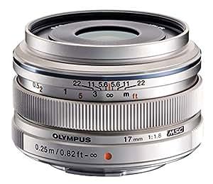 Olympus M.ZUIKO DIGITAL Objektiv 17mm 1:1.8 Pancake Silber