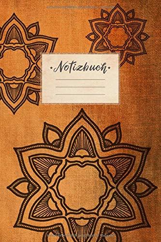 Notizbuch: blanko, DIN A5 Format, 100 leere Seiten mit Rahmen, weißes Papier, glänzendes Softcover für hochwertiges Design | Malbuch - Skizzenheft - ... Braun Farbverlauf Trance Spirituell