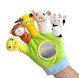 Vi.yo Fingerpuppen Handschuh Farm Animal Hand Handschuh Puppet Spielzeug Baby Story Zeit Requisiten Weiche pädagogische Puppen-Spielwaren für Baby und Kleinkinder (Grün)