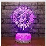 Luce Notturna 3DLED Regali Di Compleanno Bussola 3D Lampada Da Comodino Da Tavolo In Acrilico Lampada Da Tavolo Decorativa Per Soggiorno