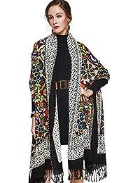 SAFZES 100% Foulard Carré Femmes Élégant Lady Foulard Et Chaud Long Châle  Étole Imprimé Étoles Bandana Écharpe Hijab Plage… 60b81ecfede5