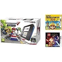 Consola Nintendo 2DS Azul + Mario Kart 7 + Super Mario Maker + LEGO Star Wars: El Despertar De La Fuerza