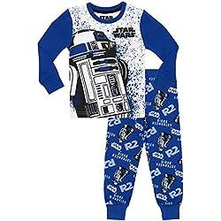 STAR WARS - Pijama para Niños R2D2 - Ajust Ceñido - 12-13 Años