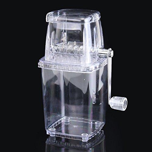 DyNamic Tragbarer manueller Eis-Rasierapparat-Block-Rasierapparat-Maschinen-Zerkleinerungs-Schnee-Eis-Kegel-Hersteller transparent (Kegel-eis-maschine)