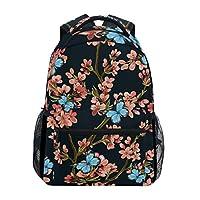 Funnyy Floral Flower Butterfly Vintage Backpack Travel School Shoulder Bag Bookbag Daypack for Kids Girls Boys Men Women