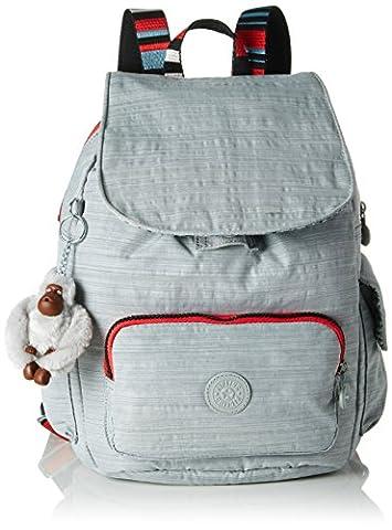 Kipling City Pack S, Women's Backpack, Grau (Dazz Grey Str), One Size