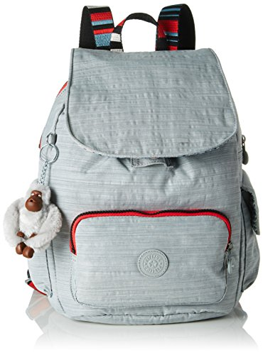 Kipling Damen CITY PACK S Rucksack Grau (Dazz Grey Str)