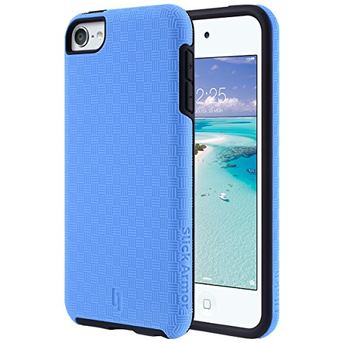 iPod Touch 5 6 Hülle, ULAK iPod Touch Case Schlank-Schutz Tough Hybrid Robust Stoßdämpfung Hart Tasche Case Cover für iPod Touch 5 6 Generation (blau + schwarz) (Ipod Touch 5 Generation-halter)