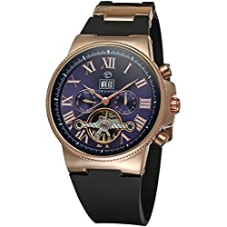Forsining Men's Automatic Tourbillon Calendar WristWatch with Analogue Display FSG2373M3R3