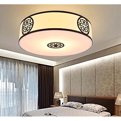 midtawer Minimalista cinese nuovo ferro luce a soffittoCorridoio camera da letto soggiorno round nuovi tessuti cinesi di luce a soffitto,1025Rosso antico spazzolato,450*H220