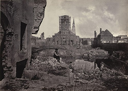 Das Museum Outlet - George Barnard - Ruinen in Charleston, South Carolina von Das Album, fotografischen Views of Shermans Kampagne, gespannte Leinwand Galerie verpackt. 29,7 x 41,9 cm