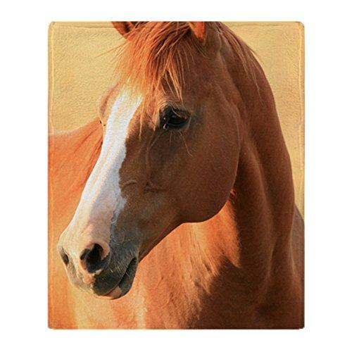CafePress – Pferdedecke aus weichem Fleece, 127 x 152 cm, Stadion-Decke 50x60 weiß