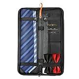 BIGWING Style Custodia per cravatte da viaggio, porta cravatta impermeabile portatile con gemelli per cravatta da uomo immagazzinata fino a 4 cravatte - nero  Aprite sempre la valigia e la trovate disordinata? Sei sempre stanco di rovesciare l'intera...