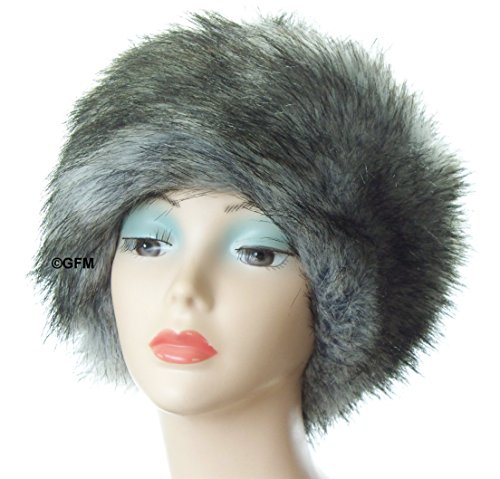 GFM Ladies Faux Fur Pill Box HAT in Russian Cossack Hat / Pill Box style