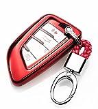 YUWATON KFZ Schlüssel Cver KFZ Schlüssel Fall Auto Fernbedienung, für Mercedes-Benz A B C E Class GLA GLC GLE Schlüsselanhänger Key Cover Schutz Schlüssel Button Rot