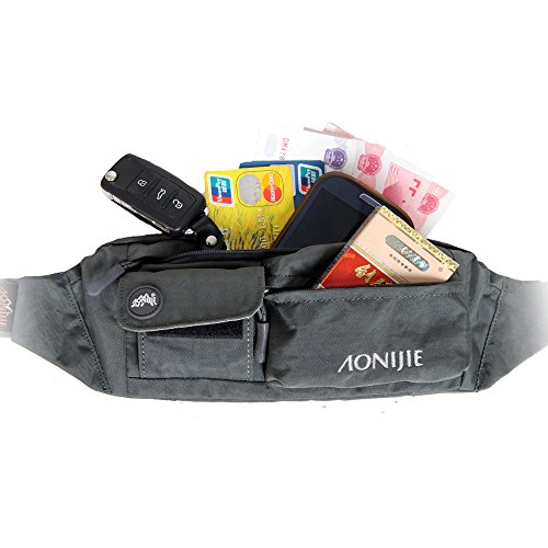 51LVnxke4TL. SS500  - Waterfly Waist Bag Pack Slim Water Resistant Fanny Pack Travel Bum Bag Running Belt for Traveling Cy