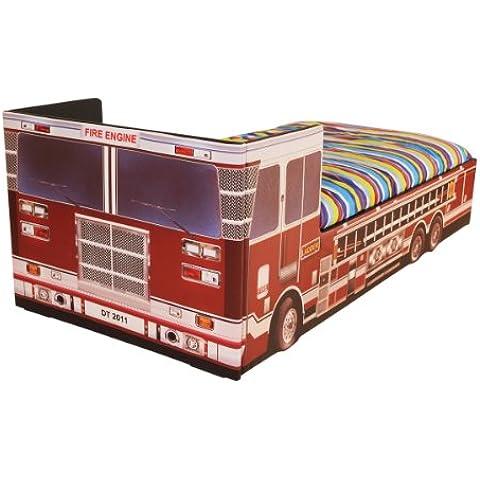 Niños de Fire Engine Truck/Coche cama con magnífico diseño–tamaño único de la UE–marco