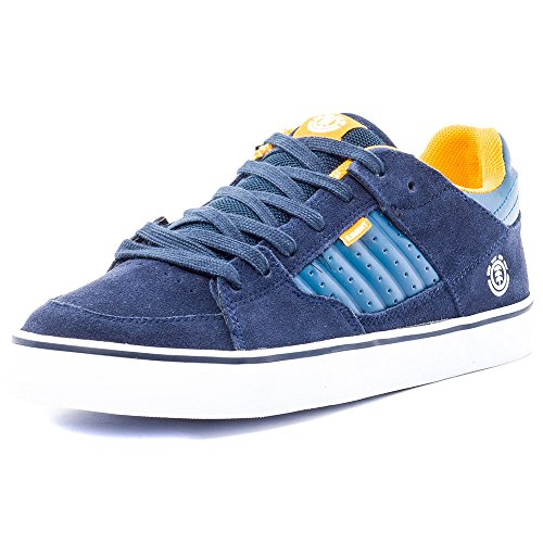 Element GLT2 Mens Suede Skate Trainers Navy Yellow - 40.5 EU