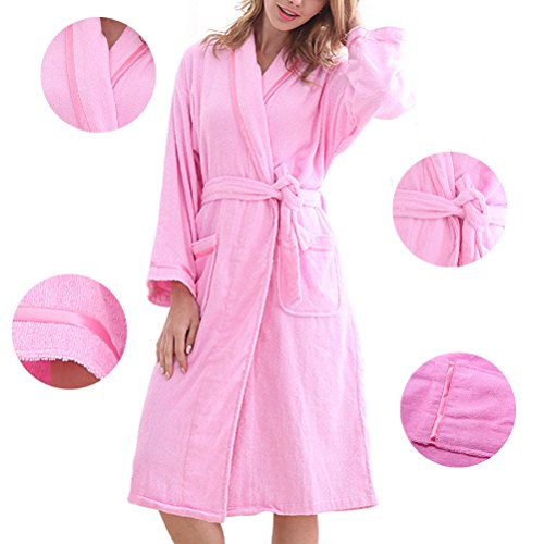 Zhhlaixing Summer Lovers Flannel Neutral Super Soft Luxury Robes Dressing Pigiama Gown Pink