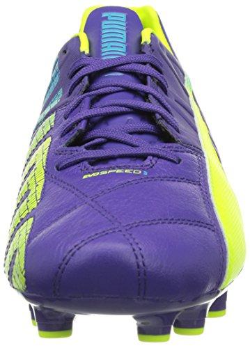 Puma evoSPEED 3.3 FG Herren Fußballschuhe Violett (prism violet-fluro yellow-scuba blue 01)