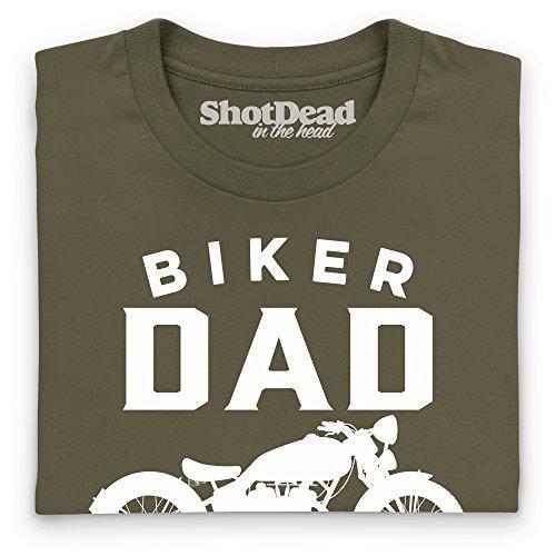 Biker Dad T-Shirt, Herren Olivgrn