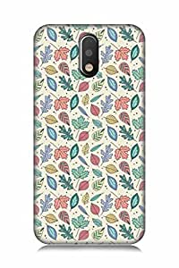 FABCASE Premium multicolour leafs texture dots feathers beauty girls Printed Hard Plastic Back Case Cover for Motorola Moto G4