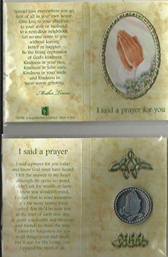 Ich sagte ein Gebet für Sie Zinn Token/LOVE Freundschaft Erinnerungs-Münze