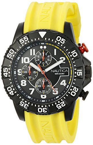 Nautica Herren nad17515g NSR 104 Analog Display Armbanduhr Analog gelb - Watch Nautica Gelb