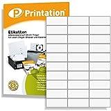 Etiketten für Kennzeichnungen 70 x 29,7 mm klebend weiß 3000 Stk. 100 A4 Blätter 3x10 - 3489 4456