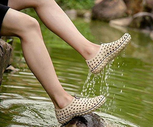 GLTER Slip On Loafers Schuhe Sommer Herren Clogs Schuhe Sandalen Komfortable Breathable Beach Junge Casual Schuhe Khaki