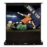 200 x 150 cm Leinwand Boden Projektor Beamer FUllHD Vinylfaser (Gainfaktor 1.0 ,  254cm, 4:3)
