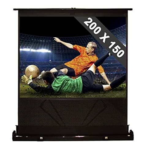 Canvas Screen for Projectors Floor Mounted Home Cinema (100