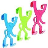 COM-FOUR 3 x Türhaken in trendigen Farben