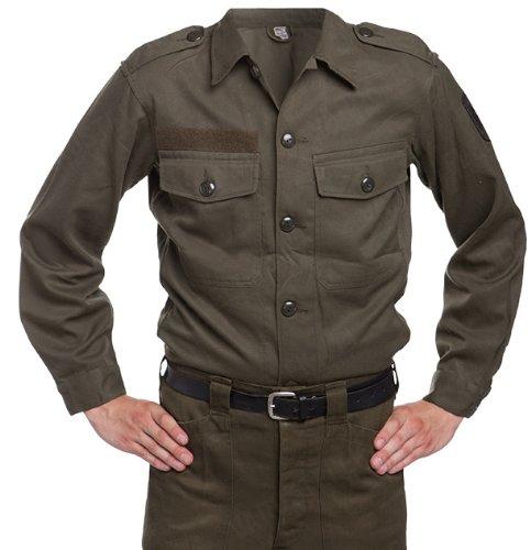 austria-ejercito-issue-vintage-para-hombre-camisa-de-campo-verde-large